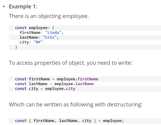 Use Destructuring to Get Props